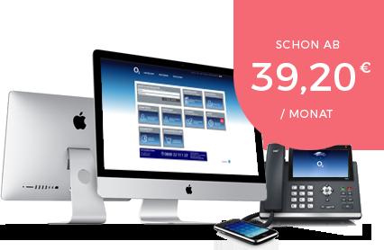 Die Cloud-PBX von Telefónica o2 gibt es bereits ab 39,20 € / Monat